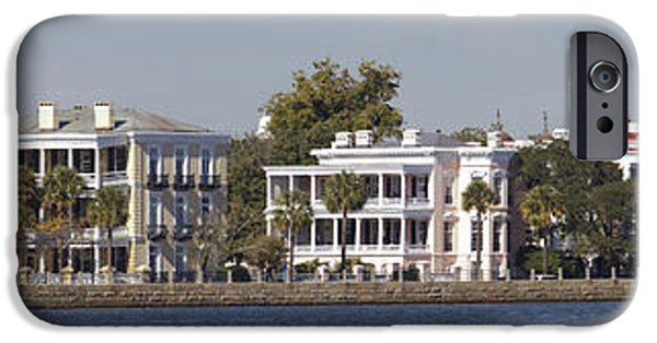 Battery iPhone Cases - Charleston Battery Row Panoramic iPhone Case by Dustin K Ryan