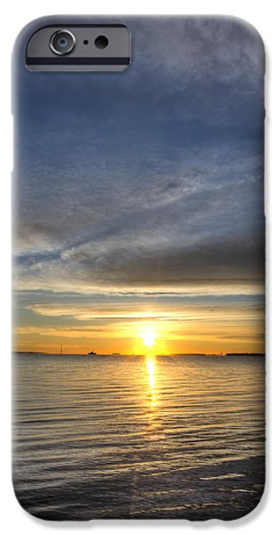 Battery iPhone Cases - Charleston SC Sunrise iPhone Case by Dustin K Ryan