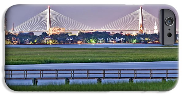 Waterfront Photographs iPhone Cases - Charleston South Carolina Skyline iPhone Case by Dustin K Ryan