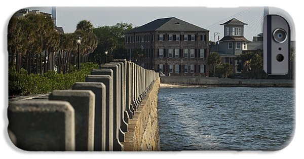 Waterfront Photographs iPhone Cases - Charleston South Carolina Waterfront Battery iPhone Case by Dustin K Ryan