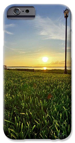 Charleston Waterfront Park Sunrise 3 iPhone Case by Dustin K Ryan
