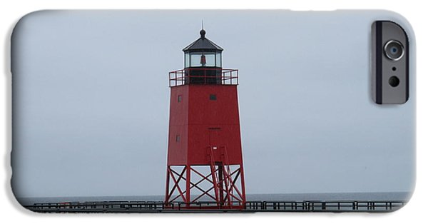 Historic Site iPhone Cases - Charlevois Pierhead Light iPhone Case by Cindy Kellogg