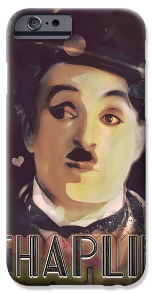 The Little Tramp iPhone Cases - Charlie Chaplin - Bokeh iPhone Case by Darlanne Studios