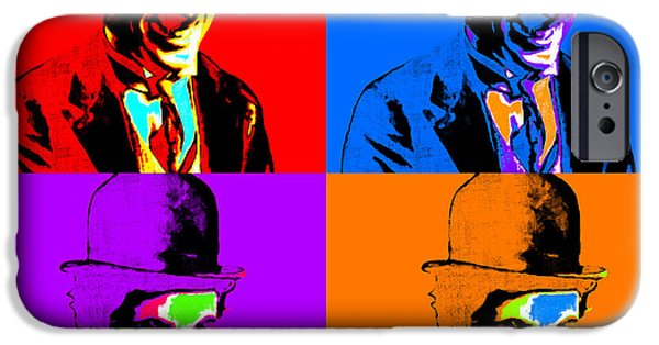 Chaplin iPhone Cases - Charlie Chaplin Four 20130212 iPhone Case by Wingsdomain Art and Photography