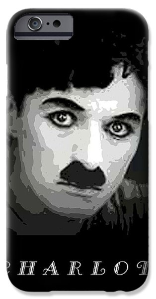 Chaplin iPhone Cases - Charlie Chaplin iPhone Case by John Keaton