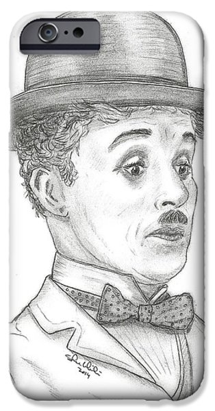 Steven White iPhone Cases - Charlie Chaplin iPhone Case by Steven White