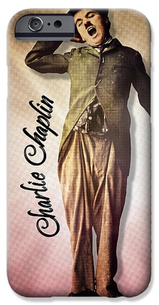 The Little Tramp iPhone Cases - Charlie Chaplin - The Yawn iPhone Case by Darlanne