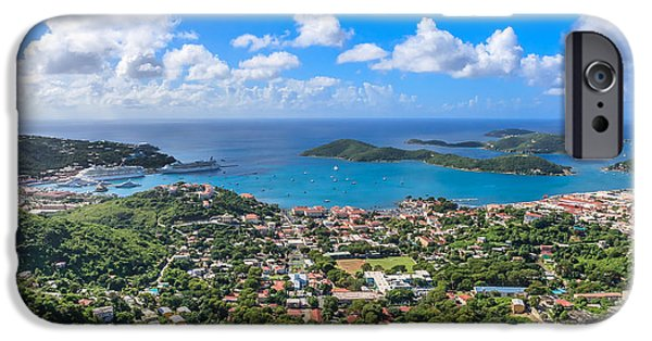Charlotte iPhone Cases - Charlotte Amalie St. Thomas in the caribbean iPhone Case by Keith Allen