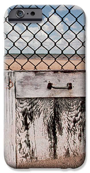 Charlotte Beach Fence iPhone Case by Peter J Sucy