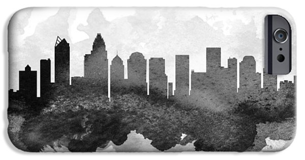 Charlotte iPhone Cases - Charlotte Cityscape 11 iPhone Case by Aged Pixel