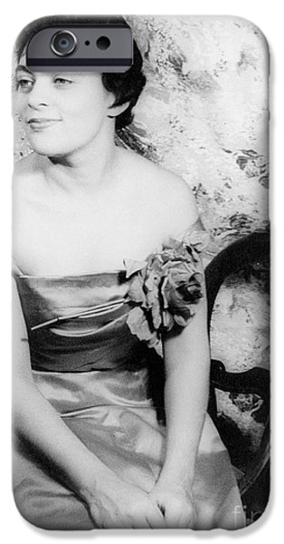 Charlotte iPhone Cases - Charlotte Holloman (1922-) iPhone Case by Granger