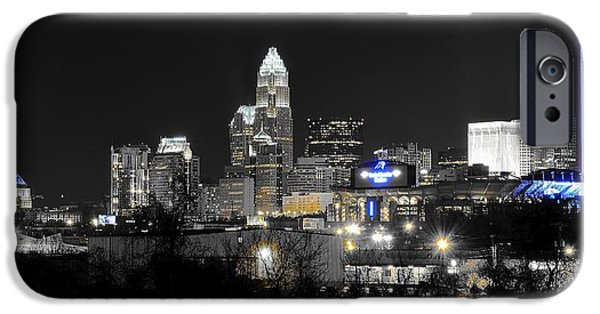 Charlotte iPhone Cases - Charlotte Night Panorama iPhone Case by Frozen in Time Fine Art Photography