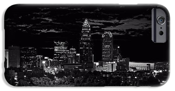 Charlotte Digital Art iPhone Cases - Charlotte North Carolina iPhone Case by Chris Flees