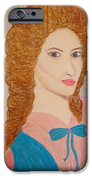 Charlotte Pastels iPhone Cases - Charlotte iPhone Case by Shikha Narula