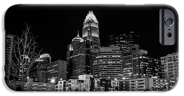 Business Photographs iPhone Cases - Charlotte the Queen City iPhone Case by Robert Yaeger