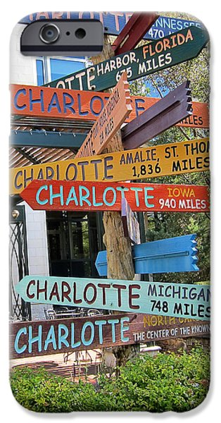 Charlotte iPhone Cases - Charlotte Where Are You? iPhone Case by Mary Lee Dereske