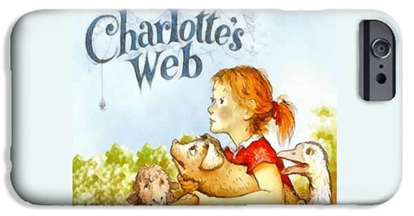 Childrens Books iPhone Cases - Charlottes Web iPhone Case by Elizabeth Coats