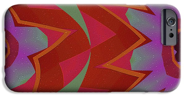 Abstract Digital Mixed Media iPhone Cases - Chasing the Dream iPhone Case by Bonnie Bruno