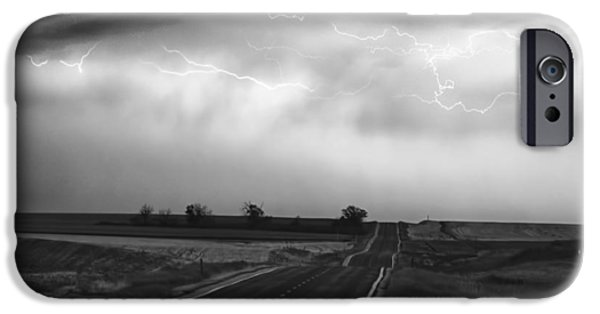 Lightning Bolts iPhone Cases - Chasing The Storm - County Rd 95 and Highway 52 - Colorado iPhone Case by James BO  Insogna