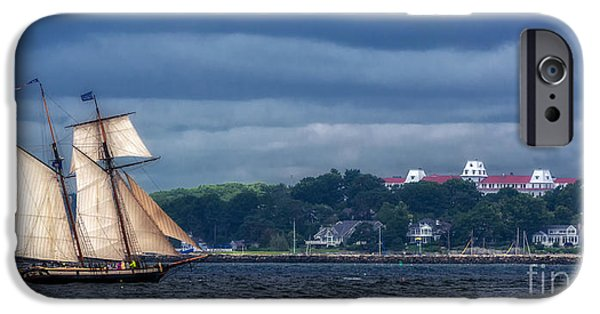 Tall Ship iPhone Cases - Chasing The Storm iPhone Case by Scott Thorp