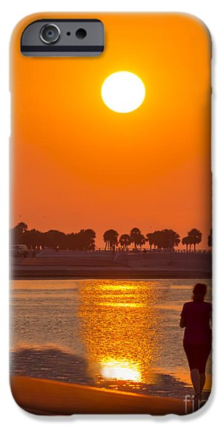 St. Petersburg iPhone Cases - Chasing The Sunset iPhone Case by Marvin Spates