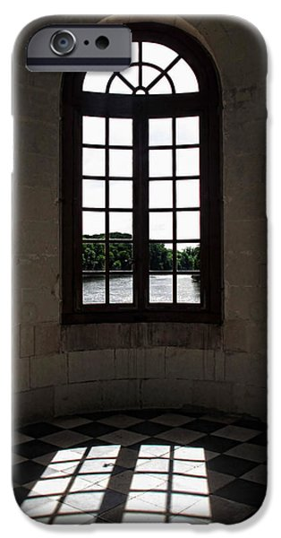 French Open iPhone Cases - Chateau Chenonceau Window iPhone Case by Joan  Minchak