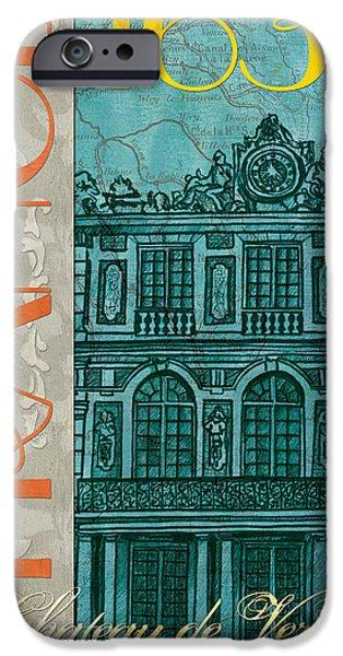 Maps Paintings iPhone Cases - Chateau de Versailles iPhone Case by Debbie DeWitt