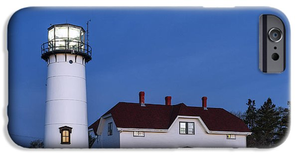 Chatham iPhone Cases - Chatham Lighthouse Night iPhone Case by John Greim