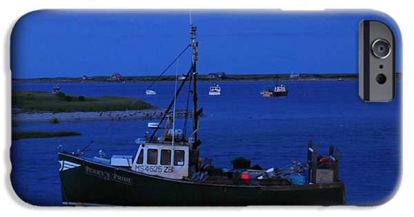 Chatham iPhone Cases - Chatham Pier Fisherman Boat  iPhone Case by Juergen Roth