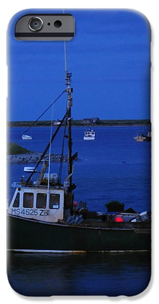 Chatham Pier Fisherman Boat  iPhone Case by Juergen Roth