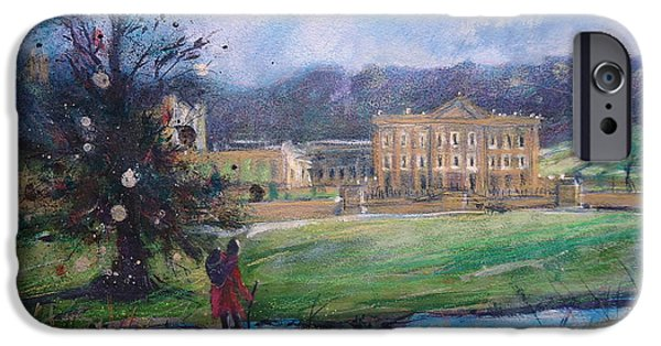Duchess Mixed Media iPhone Cases - Chatsworth House Ramble iPhone Case by Ruth Gray