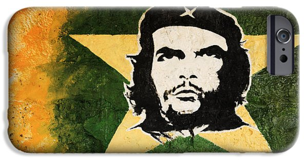 Politician iPhone Cases - Che Guevara painting iPhone Case by Deborah Benbrook