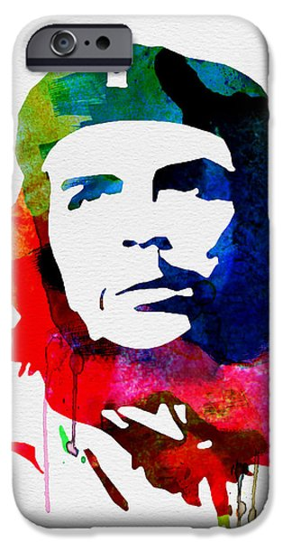 Civil Rights iPhone Cases - Che Guevara Watercolor 2 iPhone Case by Naxart Studio