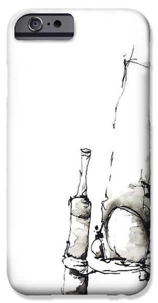 Abnormal Drawings iPhone Cases - Cheers iPhone Case by Nick Watts