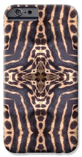 Cheetah Digital Art iPhone Cases - Cheetah Cross iPhone Case by Maria Watt