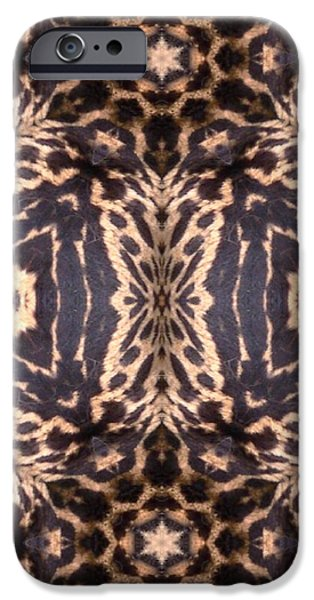 Cheetah Digital Art iPhone Cases - Cheetah Print iPhone Case by Maria Watt