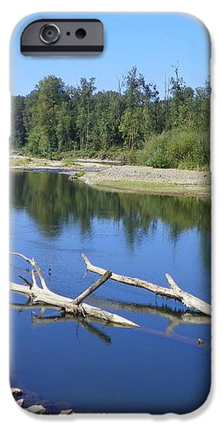 CHEHALIS RIVER WASHINGTON iPhone Case by LAURIE KIDD