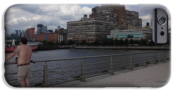 Hudson River iPhone Cases - Chelsea Waterside Park iPhone Case by George Hertz