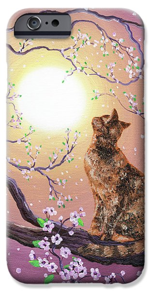 Cherry Blossom Waltz  iPhone Case by Laura Iverson