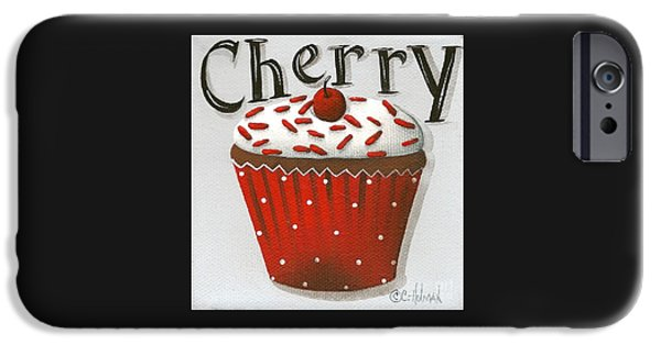 Catherine White Paintings iPhone Cases - Cherry Celebration iPhone Case by Catherine Holman
