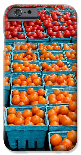 Farm Stand iPhone Cases - Cherry Tomatoes iPhone Case by Jennifer Booher