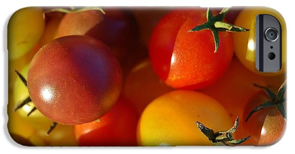 West Fork iPhone Cases - Cherry Tomatoes iPhone Case by Jennifer Smith