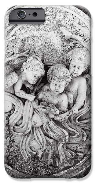 Angel Reliefs iPhone Cases - Cherub...winged Angel iPhone Case by Tom Druin