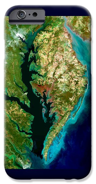 Technical Paintings iPhone Cases - Chesapeake Bay iPhone Case by Elaine Plesser