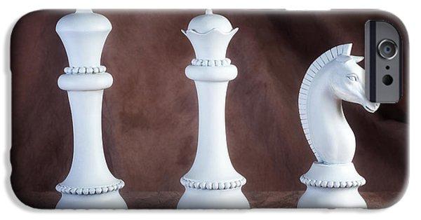 Chess Queen iPhone Cases - Chessmen V iPhone Case by Tom Mc Nemar