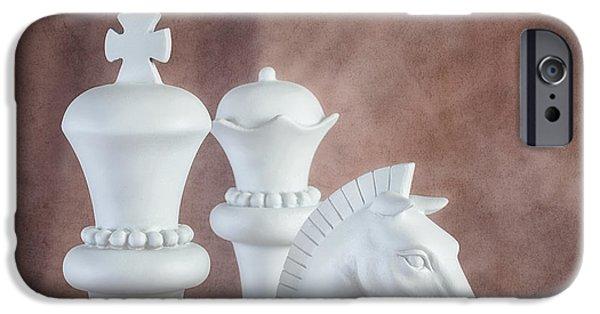 Chess Queen iPhone Cases - Chessmen VI iPhone Case by Tom Mc Nemar