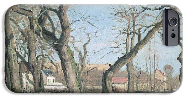 Camille Pissarro iPhone Cases - Chestnut Trees at Louveciennes iPhone Case by Camille Pissarro