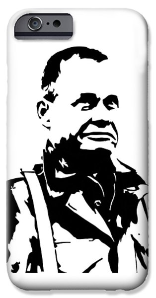 Soldiers Digital iPhone Cases - Chesty Puller iPhone Case by War Is Hell Store