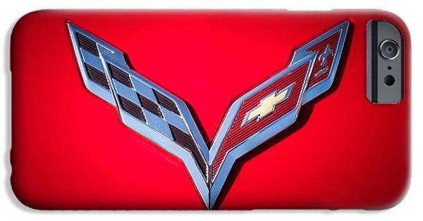 Buy iPhone Cases - Chevrolet Corvette Emblem -0406c iPhone Case by Jill Reger