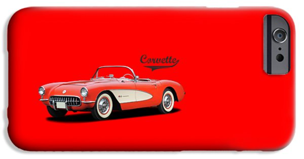 Chevrolet iPhone Cases - Chevrolet Corvette iPhone Case by Mark Rogan